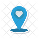 Heart Pin Love Icon