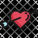 Heart Arrow Valentine Icon