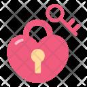 Heart Locking Icon