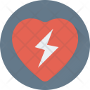 Heart Thunder Love Icon