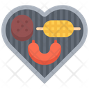 Heart Shape Griller Machine Icon