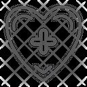 Heart Cross Medical Icon