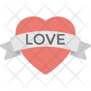 Ribbon Red Heart Icon
