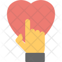 Finger Touch Heart Icon