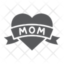 Heart Mom Inscription Icon