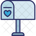Heart Letter Box Love Correspondence Icon