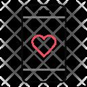 Heart Communication Smartphone Icon
