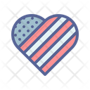 Patriotism July 4 Love Icon