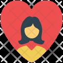Valentine Girl In Icon
