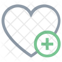 Heart Add Sign Icon