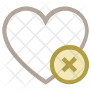 Heart Delete Sign Icon