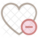 Heart Remove Sign Icon