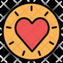 Circle Favorites Heart Icon