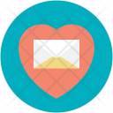 Heart Mail Message Icon