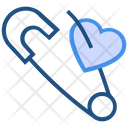 Heart Valentines Day Safety Pin Icon
