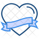 Heart Valentines Day Ribbon Icon