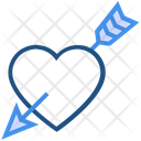 Heart Valentines Day Arrow Icon
