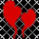 Heart Balloons Valentine Balloons Flying Hearts Icon