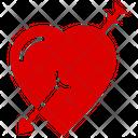 Cupid Heart Arrow Heart Heart Emoji Icon
