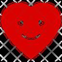 Heart Smiley Heart Emoji Happy Heart Icon