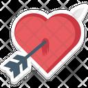 Heart Arrow Love Archery Icon