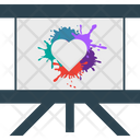 Heart Splash Board Icon