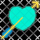 Love Valentine Arrow Icon