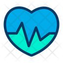 Fitness Heart Heartbeat Icon