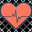 Heart Ecg Cardiology Icon
