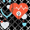 Heart Checkup Health Icon