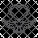 Heart Open Hand Icon