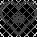 Marijuana Cannabis Heart Icon