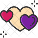 M Hearts Heart Love Icon