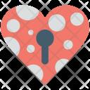 Heart Lock Keyhole Icon