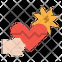 Heart Attack Pulse Icon