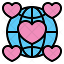 Heart Love Global Icon