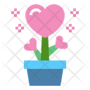 Heart Love Floral Icon