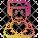 Heart Love Male Icon