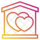 Heart Love House Icon