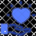 Heart Hand Love Icon