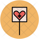 Heart Cracked Halloween Icon