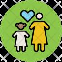 Heart Shape Family Icon
