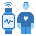 Heart Measurement Smartwatch Icon