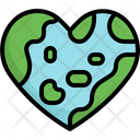 Heart Love Mother Earth Day Icon