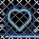 Heart Love Romantic Like Interface Heartbeat Pluse Icon