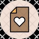 Heart File Love Icon