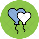 Heart Balloons Greeting Icon
