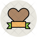 Heart Ribbon Bookmark Icon