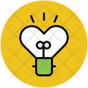 Heart Bulb Brightness Icon