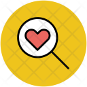 Heart Magnifier Search Icon
